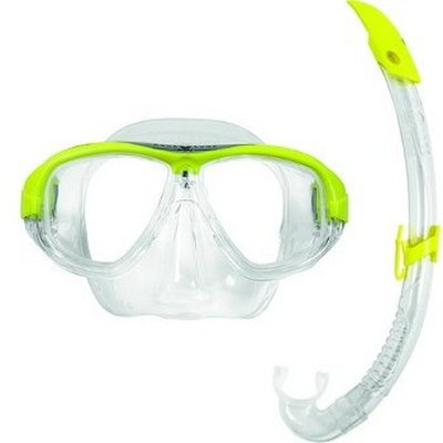 Snorkelset Coral LX + Airflex LX Yellow