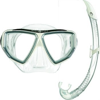 Snorkelset Oyster LX + Airflex LX Arctic White